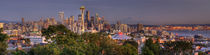 Seattle and Mt Rainier Panorama by tgigreeny
