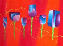 tulips on fire II von Katja Finke