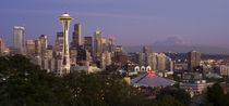 Seattle Skyline at Dusk by tgigreeny