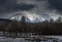 Snowstorm Over the Tetons by tgigreeny