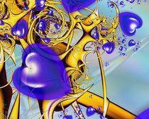 blue heart by Ilona Wargowski