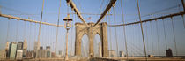 USA, New York State, New York City, Brooklyn Bridge at dawn by Panoramic Images
