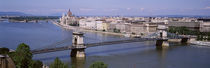 Aerial View, Bridge, Cityscape, Danube River, Budapest, Hungary by Panoramic Images