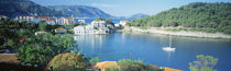 High Angle View Of A Town On The Waterfront, Cephalonia, Greece by Panoramic Images
