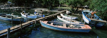 High angle view of boats moored at a pier, Cuba CAPTION BEING CHECKED von Panoramic Images