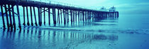 Pier at sunset, Malibu Pier, Malibu, Los Angeles County, California, USA by Panoramic Images