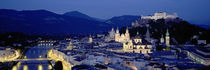 High Angle View Of Buildings In A City, Salzburg, Austria von Panoramic Images