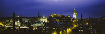High angle view of a city lit up at night, Edinburgh Castle, Edinburgh, Scotland by Panoramic Images