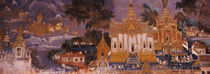 Ramayana murals in a palace, Royal Palace, Phnom Penh, Cambodia by Panoramic Images