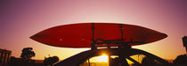Close-up of a kayak on a car roof at sunset, San Francisco, California, USA by Panoramic Images