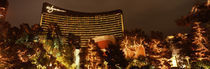 Hotel lit up at night, Wynn Las Vegas, The Strip, Las Vegas, Nevada, USA by Panoramic Images