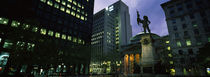 Paul Chomedey statue at a town square, Place d'Armes, Montreal, Quebec, Canada by Panoramic Images