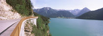 Mountain road at lakeside, Achensee, Tyrol, Austria by Panoramic Images
