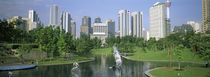 Park In The City, Petronas Twin Towers, Kuala Lumpur, Malaysia by Panoramic Images