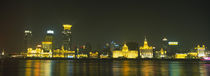 Buildings Lit Up At Night, The Bund, Shanghai, China von Panoramic Images