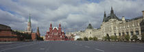 Road leading to the Red Square, State Historical Museum, Kremlin, Moscow, Russia by Panoramic Images