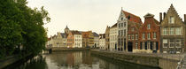 Buildings at the waterfront, Bruges, West Flanders, Belgium by Panoramic Images