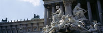 Low angle view of statues, Pallas Athena Fountain, Vienna, Austria by Panoramic Images