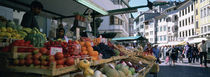 Group of people in a street market, Lake Garda, Italy by Panoramic Images