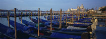Gondolas moored at a harbor, Santa Maria Della Salute, Venice, Italy von Panoramic Images
