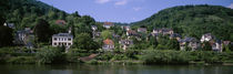 Houses on a hillside, Neckar River, Heidelberg, Baden-Wurttemberg, Germany by Panoramic Images