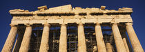 Low angle view of the ruins of a temple, Parthenon, Athens, Greece von Panoramic Images