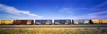Boxcars Railroad CA von Panoramic Images
