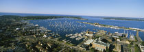 Aerial view of a harbor, Newport Harbor, Newport, Rhode Island, USA von Panoramic Images