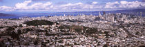 Cityscape viewed from the Twin Peaks, San Francisco, California, USA by Panoramic Images