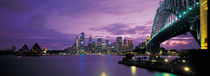 Port Jackson, Sydney Harbor And Bridge Night, Sydney, Australia by Panoramic Images