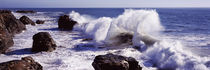 Waves breaking on the coast, Santa Cruz, Santa Cruz County, California, USA by Panoramic Images