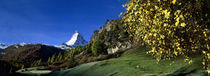 Low angle view of a snowcapped mountain, Matterhorn, Valais, Switzerland by Panoramic Images