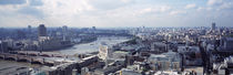 England, London, Aerial view from St. Paul's Cathedral by Panoramic Images
