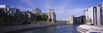 Buildings along a river, The Reichstag, Spree River, Berlin, Germany by Panoramic Images