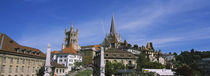 Buildings in a city, Lausanne, Switzerland von Panoramic Images