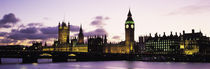 Houses of Parliament, Thames River, City Of Westminster, London, England by Panoramic Images