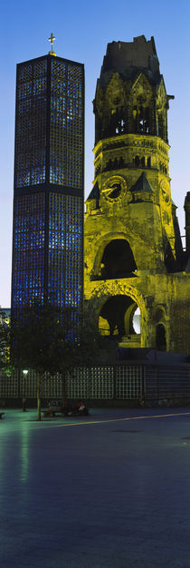 Tower of a church, Kaiser Wilhelm Memorial Church, Berlin, Germany by Panoramic Images