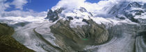 Mountain covered with snow, Gornergrat, Pennine Alps, Valais Canton, Switzerland von Panoramic Images