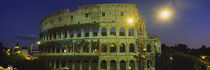 Ancient Building Lit Up At Night, Coliseum, Rome, Italy by Panoramic Images