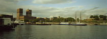 View from Aker Brygge, Town hall at the waterfront, Oslo, Norway von Panoramic Images