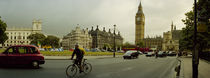 Traffic in front of a clock tower, Big Ben, City of Westminster, London, England von Panoramic Images