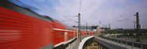 Train on railroad tracks, Central Station, Berlin, Germany von Panoramic Images