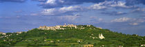 Town on a hill, Montepulciano, Val di Chiana, Siena Province, Tuscany, Italy by Panoramic Images