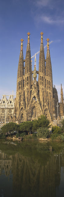 Low Angle View Of A Cathedral, Sagrada Familia, Barcelona, Spain by Panoramic Images