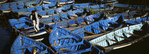 High angle view of boats docked at a port, Essaouira, Morocco by Panoramic Images