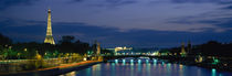 France, Paris, Eiffel Tower , Seine River von Panoramic Images