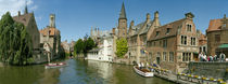 Buildings at the waterfront, Rozenhoedkaai, Bruges, West Flanders, Belgium by Panoramic Images