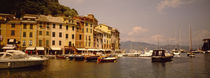 Boats in a canal, Portofino, Italy by Panoramic Images