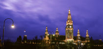 Austria, Vienna, Rathaus, night von Panoramic Images