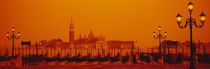 Gondolas moored at a dock, San Giorgio Maggiore, Venice, Italy by Panoramic Images